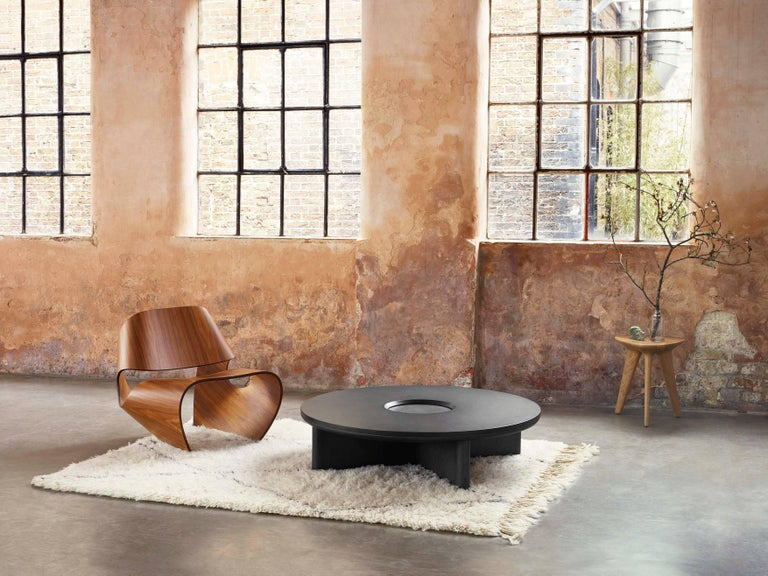 British Focus, Solid Black Oak & Welsh Slate Large Coffee Table by Made in Ratio For Sale