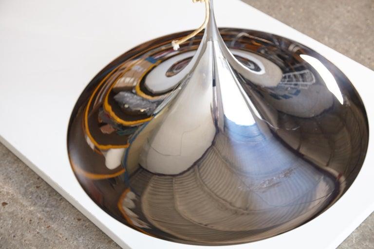 Mid-Century Modern Fog and Mørup Large Semi Pendel Pendant Lamp, Denmark, 1960s For Sale