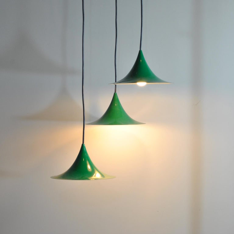Mid-20th Century Fog & Mørup Set of Three Little Chandelier For Sale