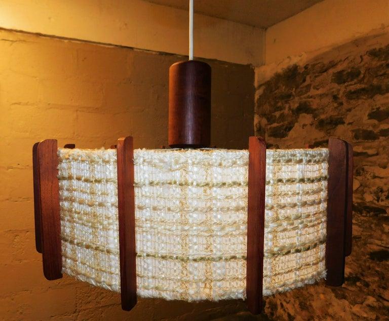 20th Century Fog & Mørup Style Danish Teak Ceiling Light