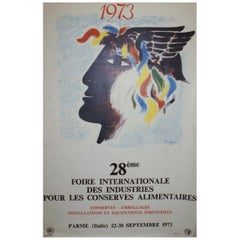 Foire International Des Industries 1973 Original Vintage Poster
