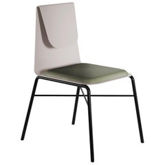 FOLD Contemporary Dining chair in Metal and fabric by Artefatto Design Studio