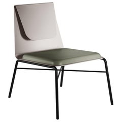 Fold Contemporary Lounge Chair in Metal and Fabric by Artefatto Design Studio