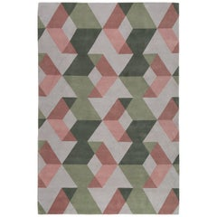 Fold Hand-Knotted Area Rug in Wool by the Rug Company