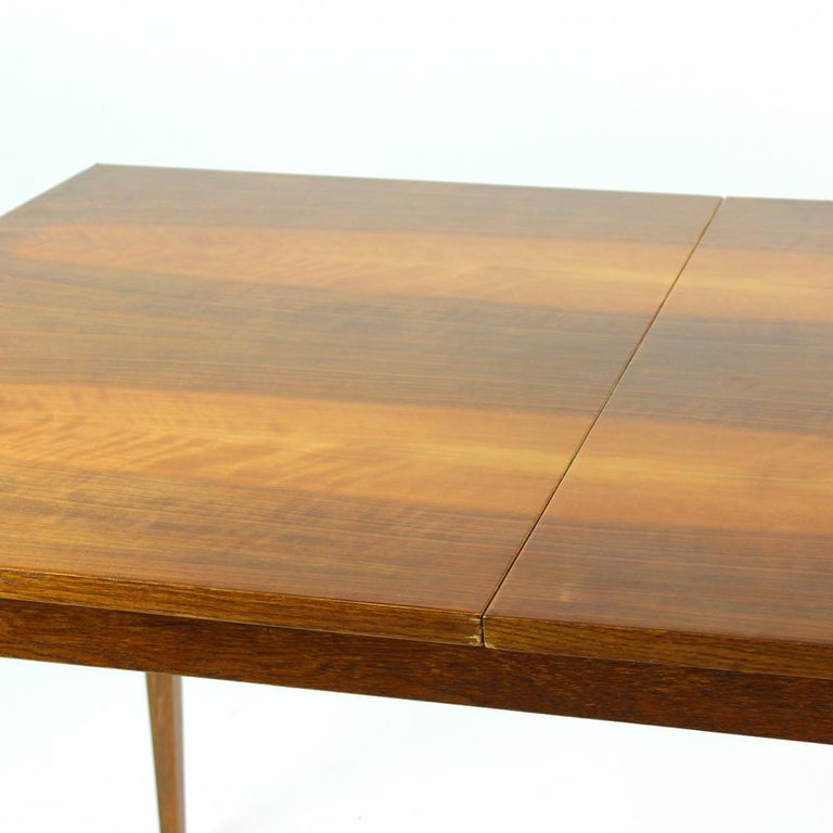 Fold Out Dining Table in Walnut Veneer for Jitona, Czechoslovakia, 1970 For Sale 1