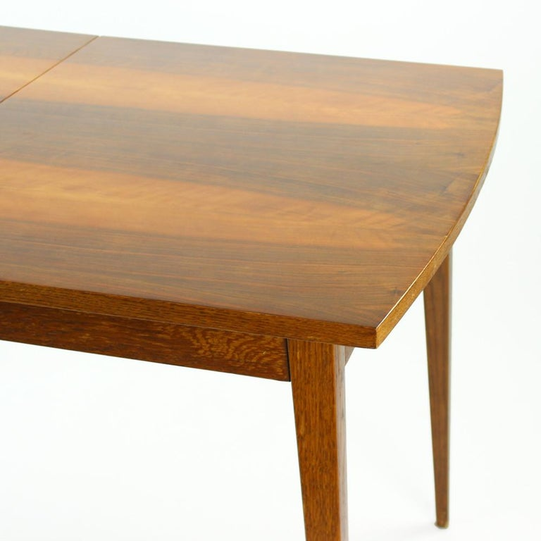 Fold Out Dining Table in Walnut Veneer for Jitona, Czechoslovakia, 1970 For Sale 2