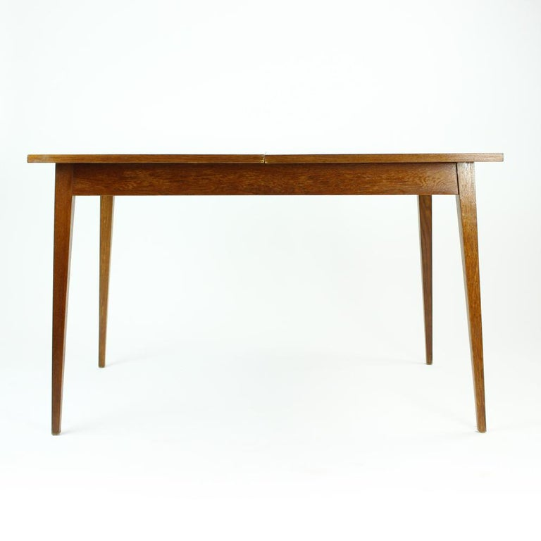 Fold Out Dining Table in Walnut Veneer for Jitona, Czechoslovakia, 1970 For Sale 3