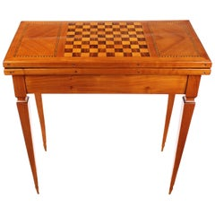 Foldable Game Table, Biedermeier, Cherry Tree, circa 1840-1850