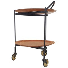 Foldable Serving Trolley, Bar Cart by Ary Fanerprodukter Nybro, Sweden