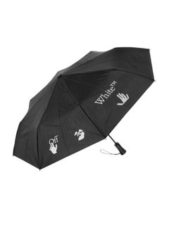 Off-White Foldable Umbrella Black White