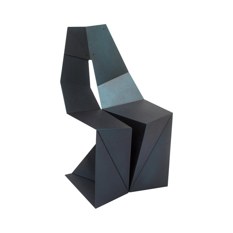 "Folded Aluminum ""Tungsten"" Chair by Arcana For Sale"