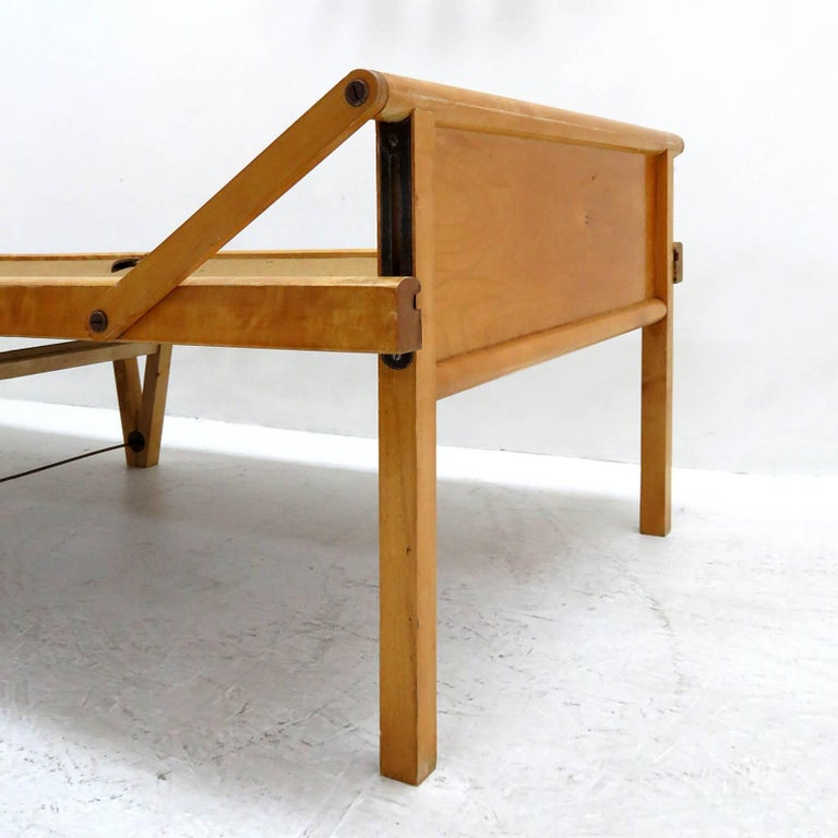 Metal Folding Bed by Brdr. Johansson For Sale