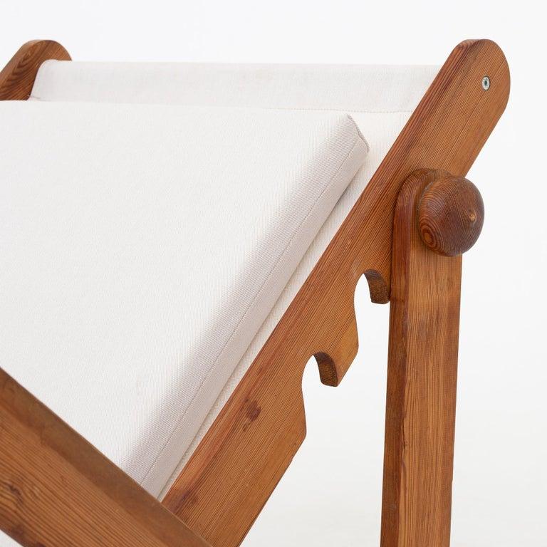 Scandinavian Modern Folding Chair in Patinated Pine