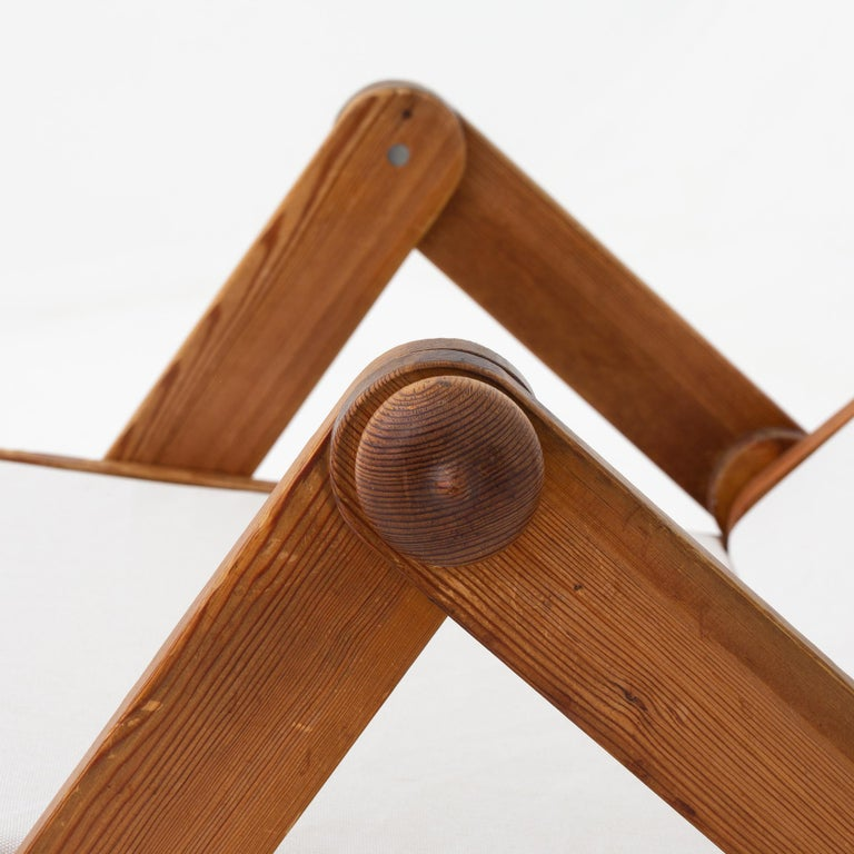 Swedish Folding Chair in Patinated Pine