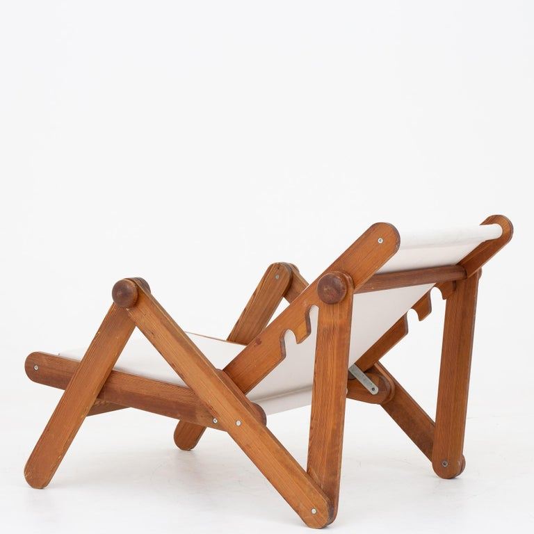 Oiled Folding Chair in Patinated Pine