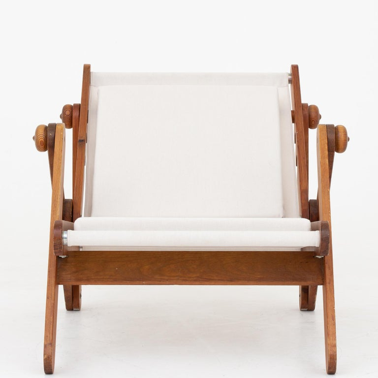 Folding Chair in Patinated Pine 1