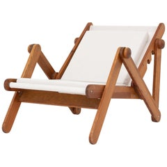 Folding Chair in Patinated Pine