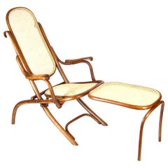 Folding Chair Thonet Nr.1 with Arms and Legrest, since 1883