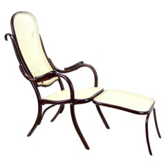 Folding Chair with Footstool Thonet No. 1, 1887-1910