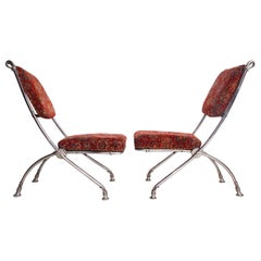 Folding Chair with Footstools