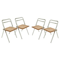 Folding Chairs by Giorgio Catellan for Cidue, Italy 1970, Set of 4