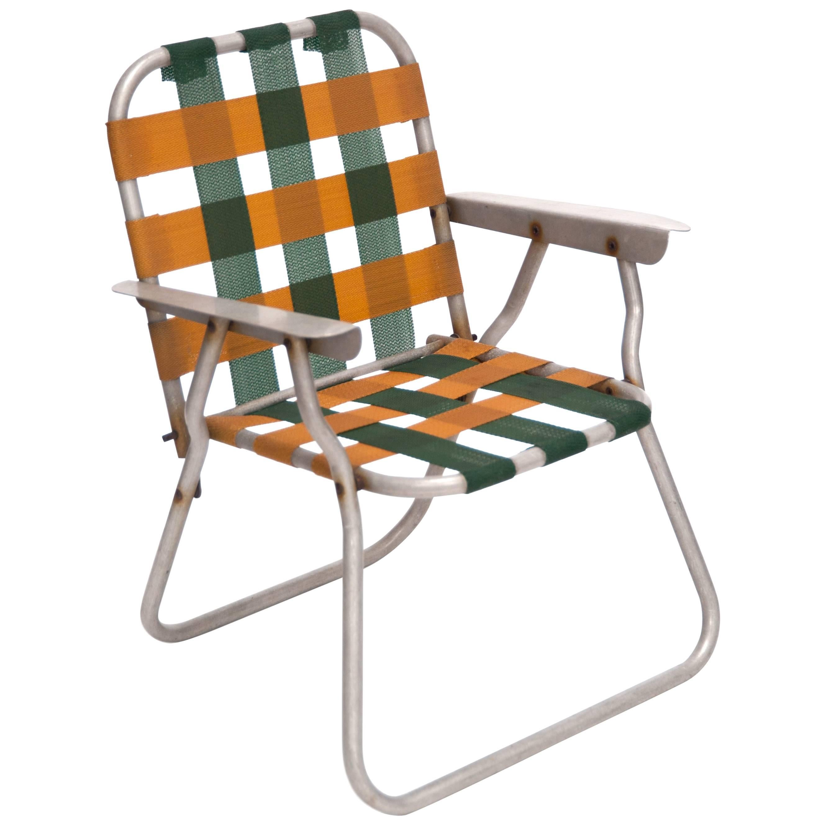 Folding Child Lawn Chair, Designer Unknown, USA, 1970s For Sale
