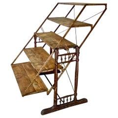 Folding / Combination Table Mercantile Shelf, circa 1900