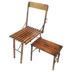 Folding French Chair and Stool