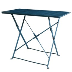 Folding French Rectangular Side Table from a Bistrot