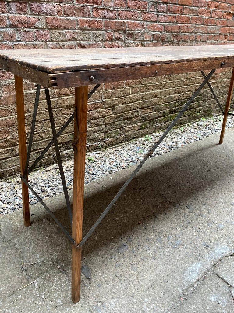 American Folding Paper Hanger Table, 1920s For Sale