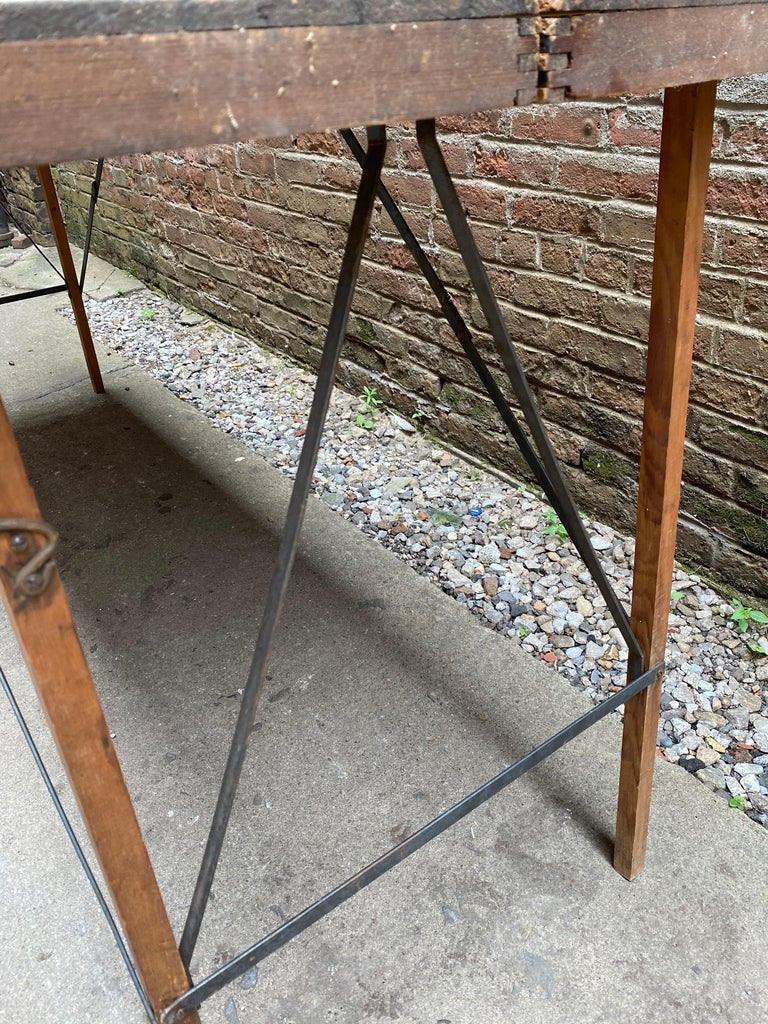 Folding Paper Hanger Table, 1920s For Sale 1