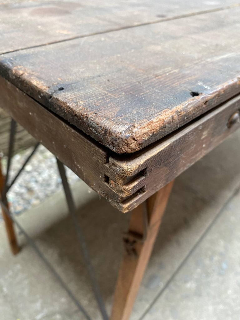 Folding Paper Hanger Table, 1920s For Sale 2