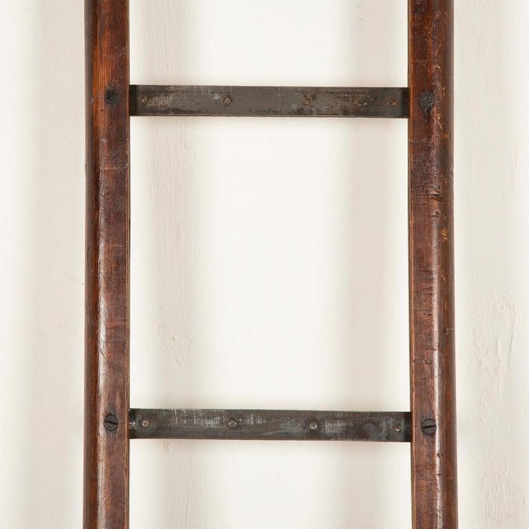 English Folding Pole Ladder For Sale