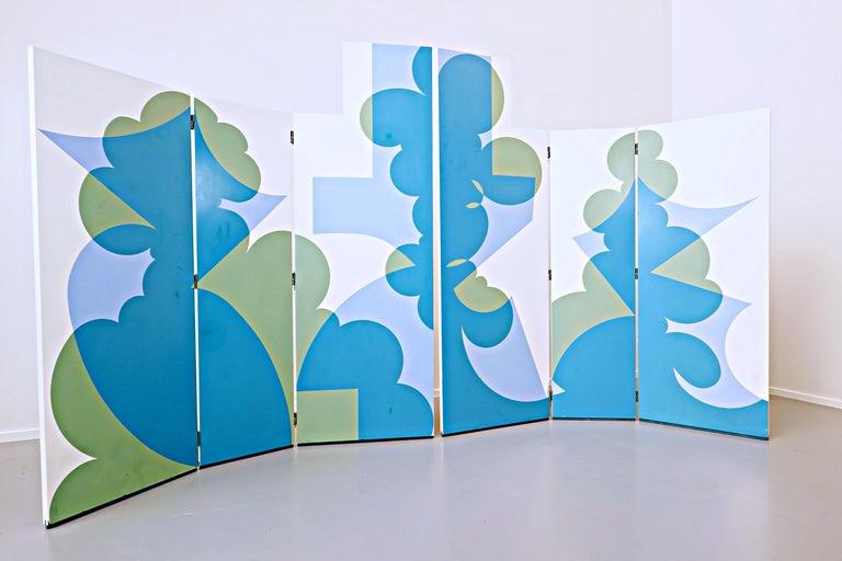 Folding screen model 'Balla' by Giacomo Balla for Simon Gavina, 1972.