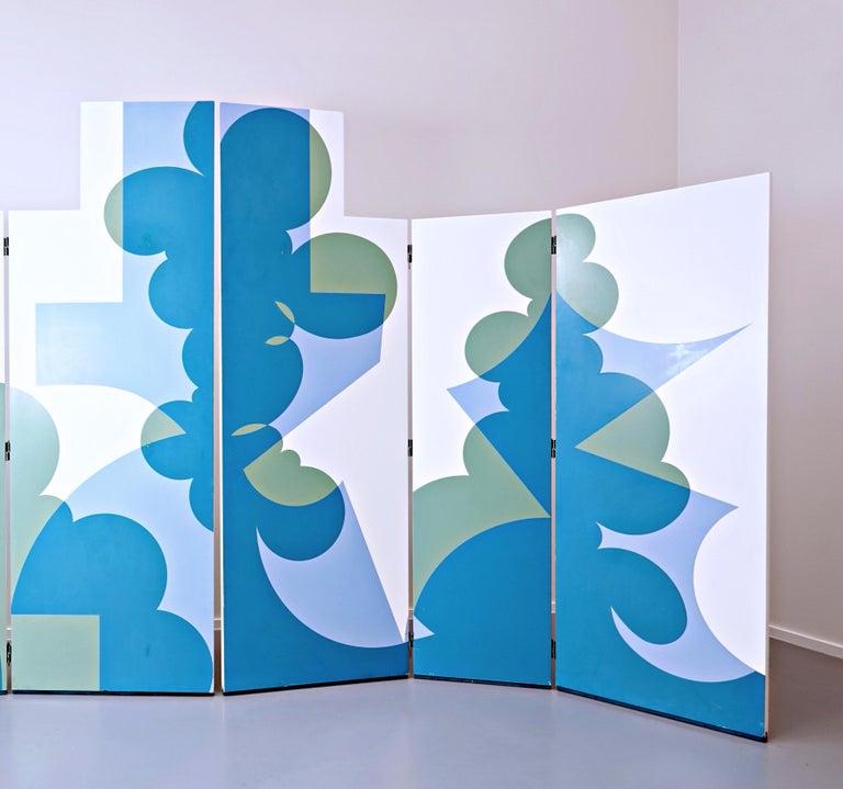 Folding Screen Model 'Balla' by Giacomo Balla for Simon Gavina, 1972 In Fair Condition For Sale In Brussels, BE