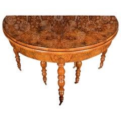 Folding Table, Walnut Wood and Walnut Root, 19th Century