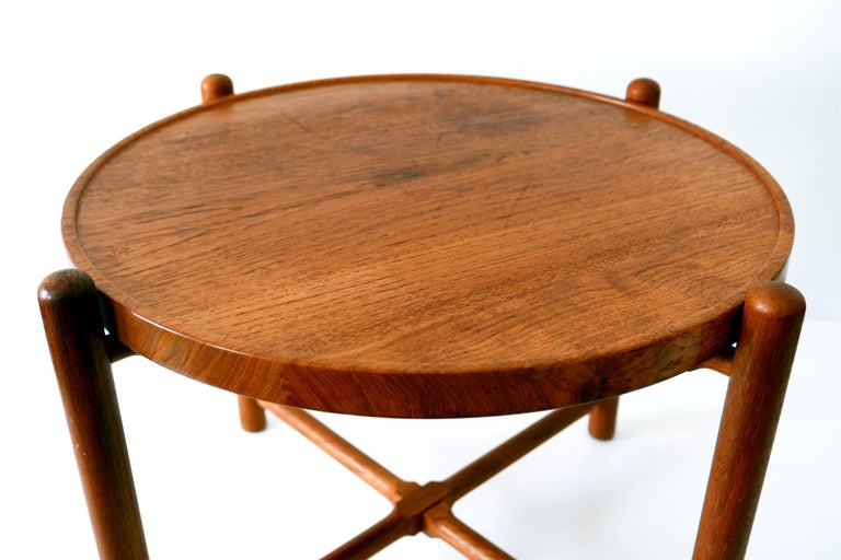 Folding Tray Coffee Table AT35 by Hans Wegner 'Attr.' for Andreas Tuck, 1960s For Sale 5