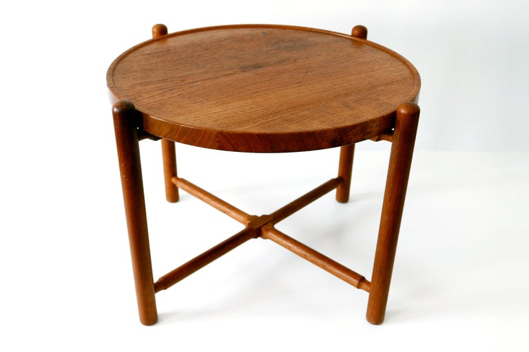 Danish Folding Tray Coffee Table AT35 by Hans Wegner 'Attr.' for Andreas Tuck, 1960s For Sale