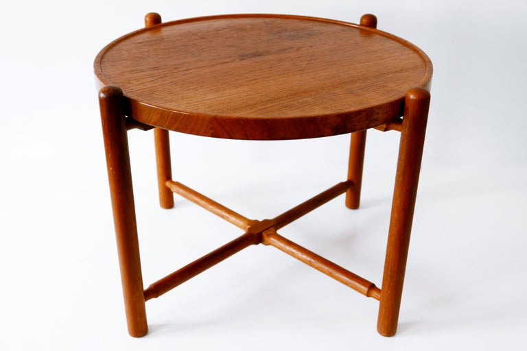 Folding Tray Coffee Table AT35 by Hans Wegner 'Attr.' for Andreas Tuck, 1960s In Good Condition For Sale In Munich, DE