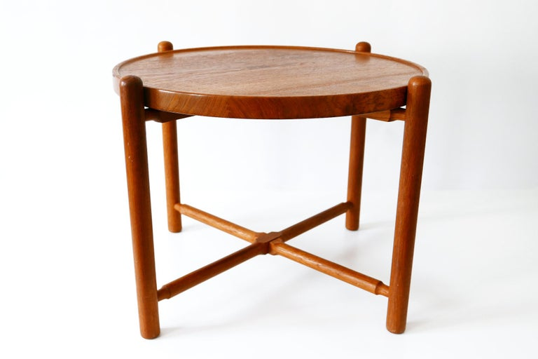 Teak Folding Tray Coffee Table AT35 by Hans Wegner 'Attr.' for Andreas Tuck, 1960s For Sale