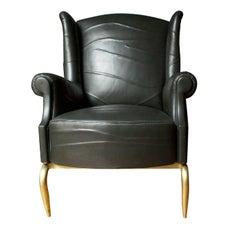 Folies Leather Armchair
