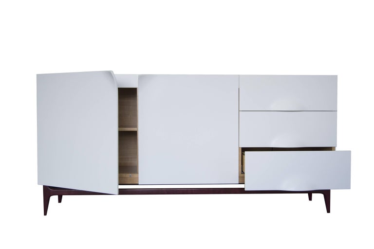 Other Folio Sideboard, Corian and Amarante Sideboard For Sale