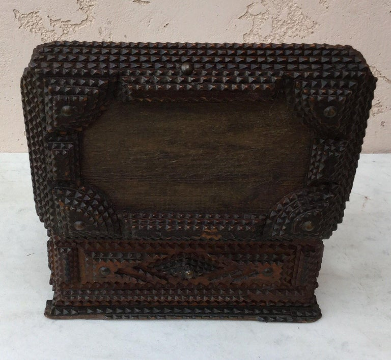 Late 19th Century Folk Art 19th Century French Tramp Box For Sale