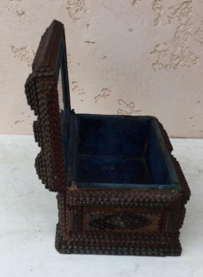 Folk Art 19th Century French Tramp Box For Sale 2
