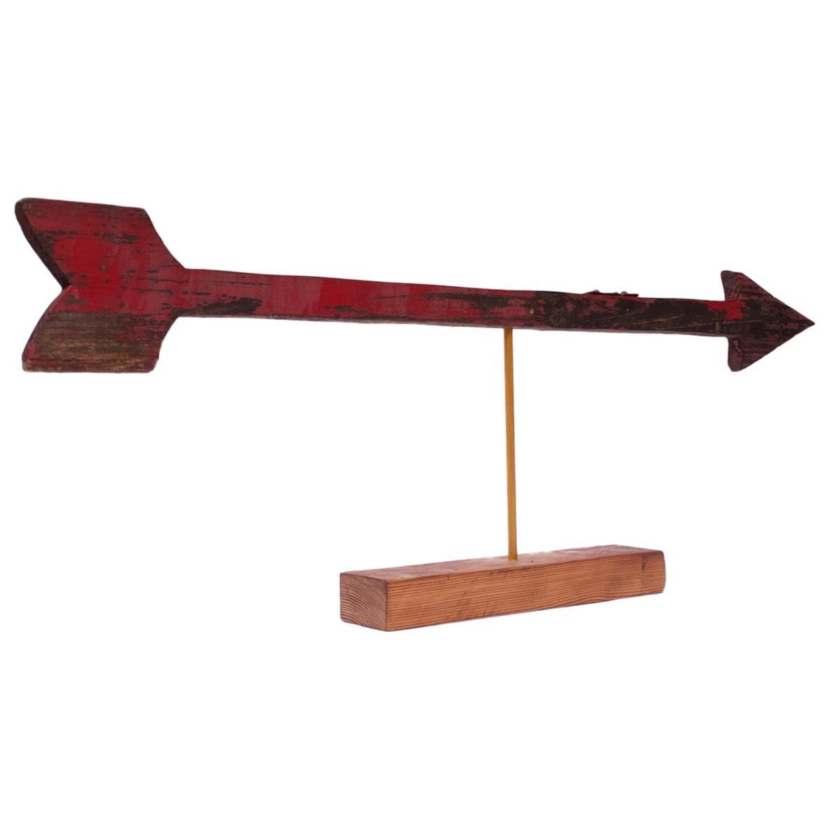 "Folk Art ""Arrow"" Mounted Sign"