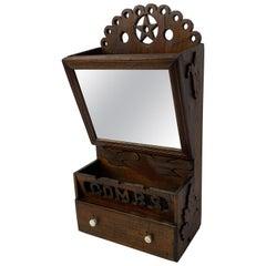 Whimsical Folk Art Barber's Cabinet