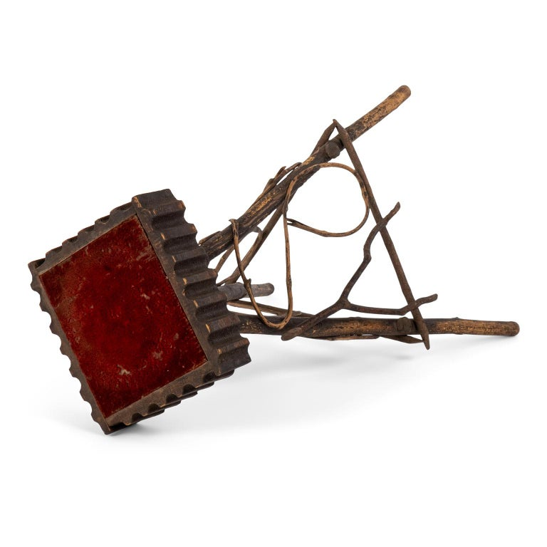 American Antique Folk Art Twig Stand For Sale