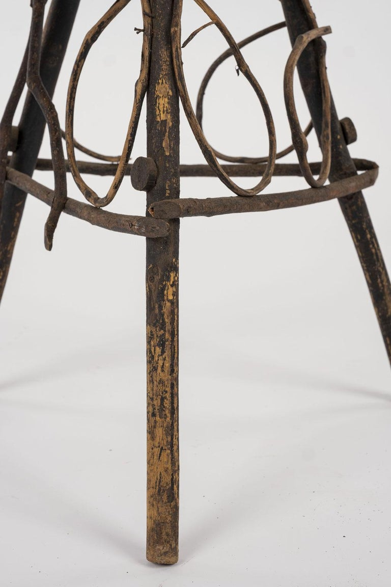 Antique Folk Art Twig Stand In Good Condition For Sale In Houston, TX