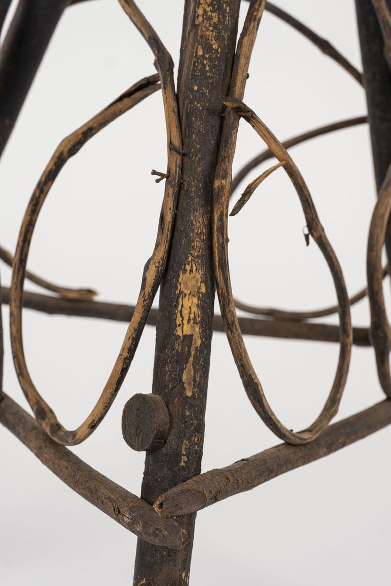 Mid-20th Century Antique Folk Art Twig Stand For Sale