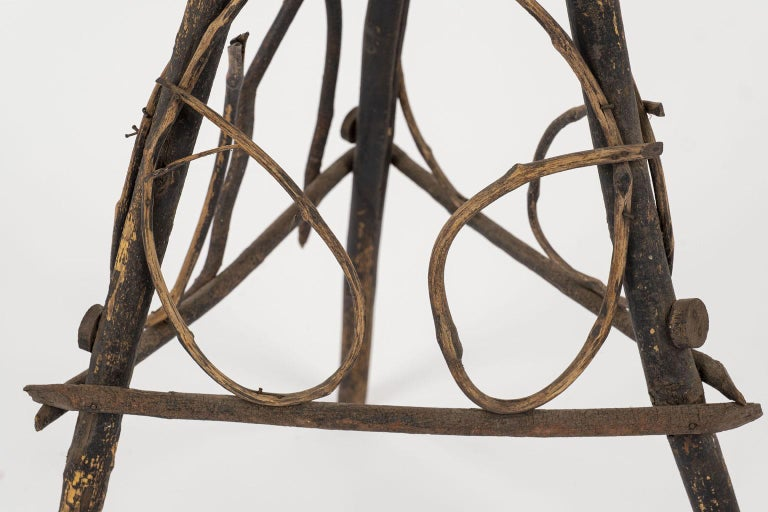 Antique Folk Art Twig Stand For Sale 1
